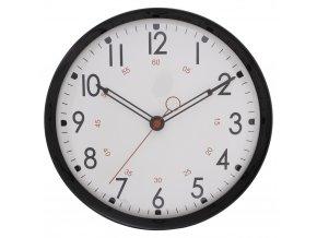 Černé hodiny na stěnu, moderní hodiny, hodiny doobýváku, hodiny do kuchyně, dekorativní hodiny, designové hodiny, bílé hodiny