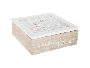 Atmosphera Créateur d'intérieur Skříňka načaj ze dřeva, box dokuchyně, box svíkem, krabička načaj, box napotraviny, kuchyňské doplňky