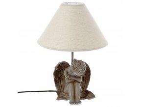 Béžová dekorativní noční lampička pro děti z polyestru, 29,5x40 cm
