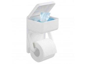 Držák na toaletní papír+ kontejner, 2 v 1, WENKO