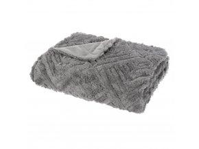 Teplá deka, přehoz na postel, pléd na postel, pléd na pohovku, přehoz na pohovku, pléd, přehoz na gauč, kožešinový přehoz, šedá deka