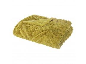 Teplá deka, přehoz na postel, pléd na postel, pléd na pohovku, přehoz na pohovku, deka, přehoz na gauč, kožešinový přehoz, žlutý pléd