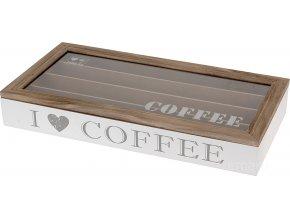 Dřevěný box, nádoba na kávu Emako
