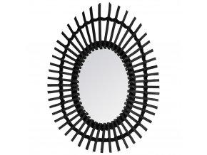 Nástěnné zrcadlo v pleteném rámu, ozdobné zrcadlo, oválné zrcadlo, zrcadlo do předsíně, koupelnové zrcadlo, dekorativní zrcadla