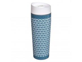 Hrnek Scandi Cocoon, termický, objem 350 ml, zamezuje vylití, barva modrá, nerezová ocel, 20 x 7 cm