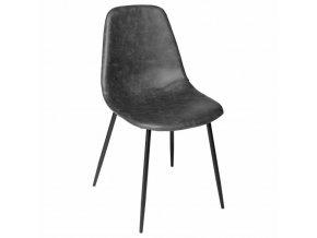 Černá pohodlná židle ve skandinávském stylu