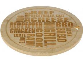 Otočná bambusová deska na sýry a lehké občerstvení