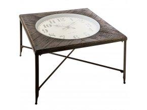 Originální kávový stolek s hodinami ve stylu retro