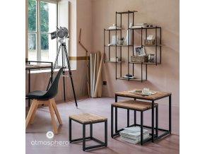 Komplet tří stylových kávových stolků do obývacího pokoje