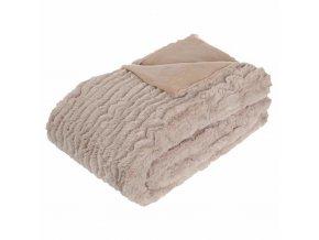 Přehoz na postel nebo pohovku – měkký huňatý pléd se zajímavou fakturou, který projasní interiér