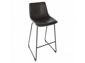 Barová stolička – černá vysoká židle, která se perfektně hodí kvysokému stolu nebo kuchyňskému ostrůvku