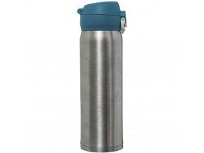 Malá modrostříbrná termoláhev