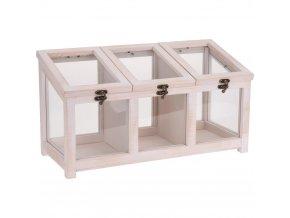 Dřevěná krabička na čaj – dekorace ve skandinávském stylu