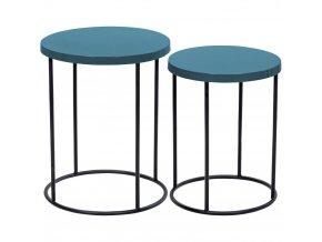 Home Styling Collection Sada kávových stolků do kuchyně, zahradní stůl – moderní styl a kovová konstrukce
