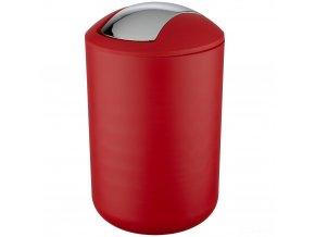 Koupelnový koš BRASIL, odpadkový koš,6,5 l,barva červená, WENKO
