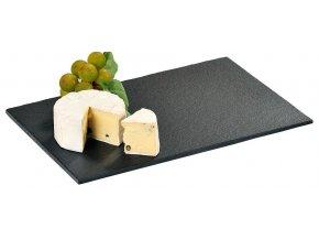 Kamenné prkénko na servírování sýrů a pokrmů, módní prkénko na sýry a jednohubky z odolné břidlice