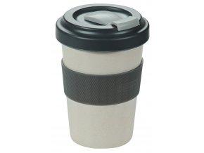 Cestovní bambusový hrnek na kávu, těsný turistický hrnek na teplé a studené nápoje