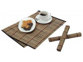 Obdélné bambusové prostírání, sada dvou elegantních a odolných stolních rohoží