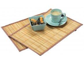 Obdélné bambusové prostírání, sada dvou stylových a odolných stolních rohoží