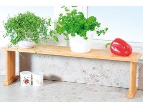 Bambusová kuchyňská polička na pracovní desku, malý regál do kuchyně s univerzálním využitím