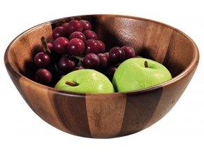 Dřevěná mísa na ovoce a saláty, velká salátová mísa s výjimečnými dekorativními hodnotami