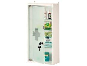 Domácí lékárnička zavíraná na magnet a klíč, praktická zdravotnická skříňka do různých místností