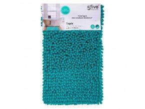 Koupelnový kobereček, tyrkysová koupelnová předložka s nadýchaným vlasem