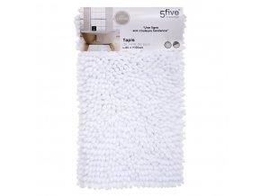 Koupelnová předložka, koupelnový kobereček bílé barvy skvěle ochrání chodidla před chladem