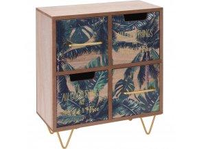 Organizér na drobnosti, mini komoda s módním potiskem se stane efektní dekorací místnosti