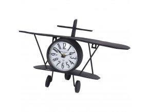 Hodiny ve tvaru letadla, dokonalý dekorativní prvek do bytu milovníka letectví.