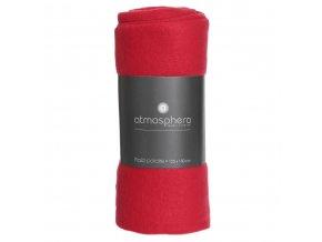 Deka vestylovém červeném odstínu, příjemný na dotek pléd na chladné večery – 150 x 125 cm