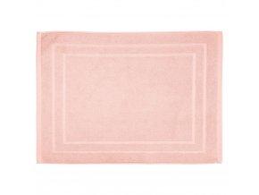 Koupelnová předložka, stylový kobereček s jemným vzorováním v světlo růžové barvě – 70 x 50 cm