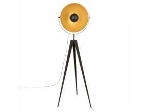Stojací lampa na trojnožce, elegantní dekorace v retro stylu krásně ozdobí obývací pokoj
