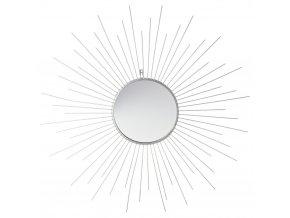 Kulaté zrcadlo slunce v kovovém rámu, moderní závěsné zrcadlo zlaté barvy