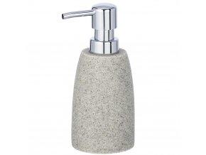 Dávkovač na tekuté mýdlo, dávkovač saponátu na mytí nádobí, šedý, dekorativní, GOA WENKO