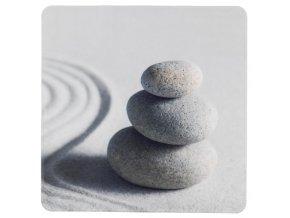 Protiskluzová podložka pod sprchového koutu, dekorativní, s potiskem: kameny a písek, 54x54cm, SAND AND STONE WENKO