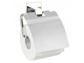 Držák na toaletní papír s krytem montáž bez vrtání, na lepidlo, FORMIA WENKO