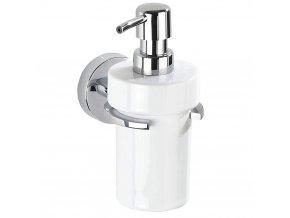 Zásobník na tekuté mýdlo s řady doplňků do koupelny Capri, vakuový montážní systém Vacuum-Loc
