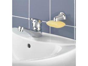 Magnetický nástěnný držák na mýdlo ve stříbrné barvě, originální mýdlenka od firmy WENKO