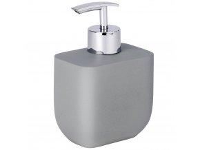 Dávkovač na tekuté mýdlo s řady minimalistických doplňků do koupelny Concrete firmy WENKO