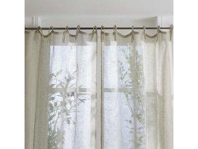 Lněná záclona, lehká výzdoba do okna z přírodního vlákna bude se líbit všem milovníkům eko stylu
