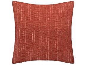 Dekorační polštář červené barvy se vzorem, velikosti 60 x 60 cm, ušitý z bavlny a polyesteru
