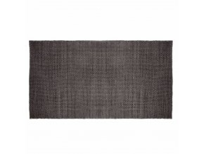 Koberec šedé barvy z bavlněného jednoduchého úpletu – skvělý doplněk interiéru