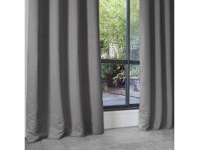 Závěsy světle šedé barvy skvěle zatemní interiér domu, velikost 140 x 260 cm