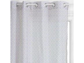 Okenní záclona s jemným vzorem šedé barvy, dekorace do obývacího pokoje - 240 x 140 cm