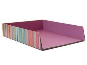 Lepenková zásuvka na dokumenty Paul značky Remember, kancelářský organizér tryskající barvami a energií