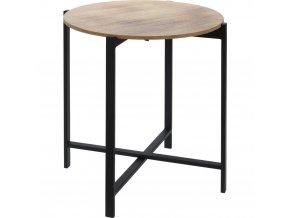 Konferenční stolek, kulatá lavička se skvěle hodí do syrových interiérů zařízených ve vintage stylu