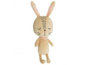 Hračka pro dítě, měkký plyšák na hraní, králíček na spaní, béžový plyšák pro dítě a dekorace pokoje