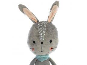 Plyšák pro dítě, hračka králíček, šedá dětská hračka králík, dekorace do dětského pokoje