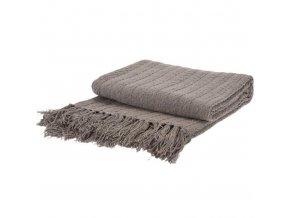 Béžová pletená deka s přírodní bavlny, přehoz na gauč a teplá přikrývka v jednom